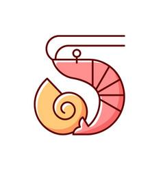 Crustaceans and molluscs rgb color icon vector