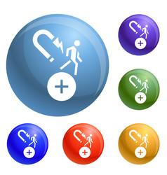 customer retention icons set vector image