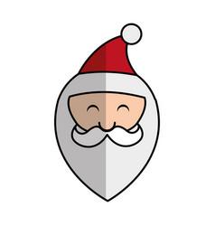 cute santa claus character head vector image