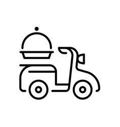 delivery services thin line icon isolated on white vector image