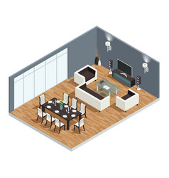 dining room concept vector image