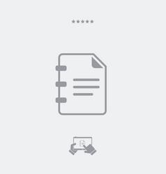 Document text - minimal icon vector