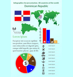dominican republic infographics for presentation vector image