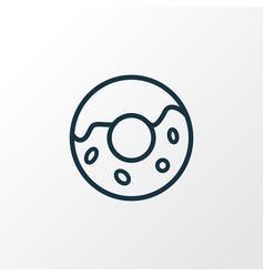 donut icon line symbol premium quality isolated vector image