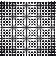 Dots connection halftone abstract background vector