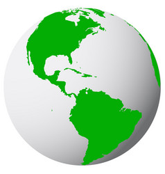 earth icon map vector image