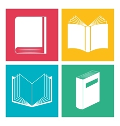 educational books design vector image