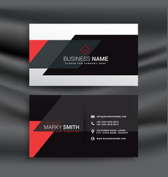 Fantastic red and black business card design vector