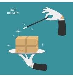 Fast delivery conceptual vector image