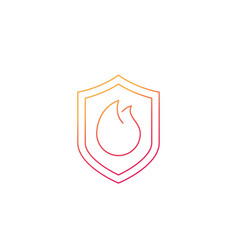Fire protection icon line vector
