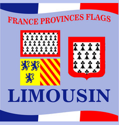 Flag french province limousin vector
