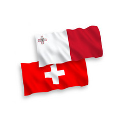 flags malta and switzerland on a white vector image