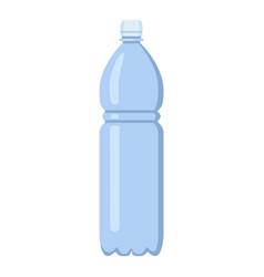 Flat plastic bottle icon vector