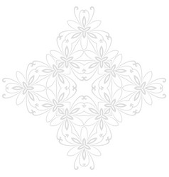 floral abstract pattern vector image vector image