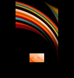 Fluid rainbow colors on black background vector