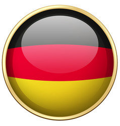Germany flag on round badge vector