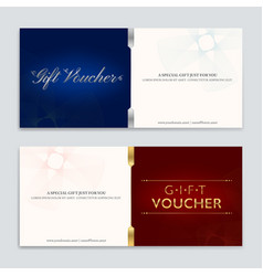 gift certificate voucher gift card or cash coupon vector image