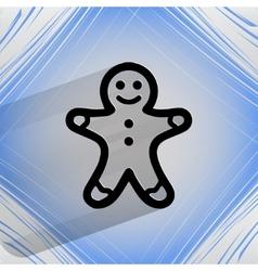 Gingerbread Flat modern web button on a flat vector