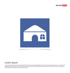 house icon - blue photo frame vector image