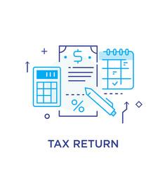 Important business event tax return calendar vector