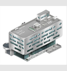 Isometric building shopping mall vector