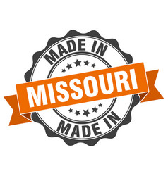 Made in missouri round seal vector