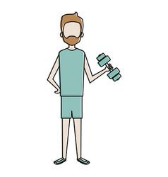 man lifting weights character vector image