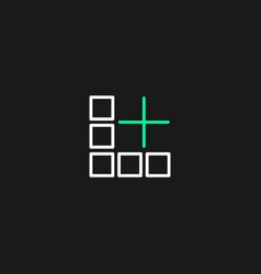 Minimalist logo thin l plus vector