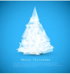 modern christmas tree vector image vector image