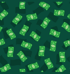 Money banknotes on green background seamless vector