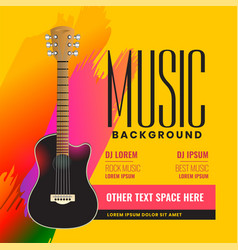 musical flyer poster with realistic acoustic vector image