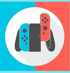 nintendo switch controller vector image