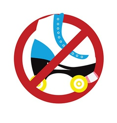 No roller skating sign vector