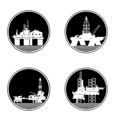 Oil platforms-1 vector