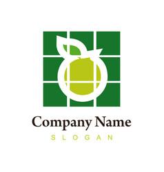 orange logotype vector image