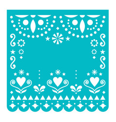 papel picado template with no text design vector image