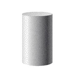 particle cylinder on white background dotwork vector image