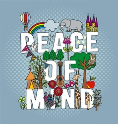 PEACE OF MIND vector