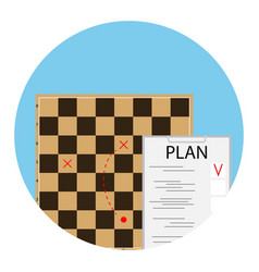 Plan strategy icon vector