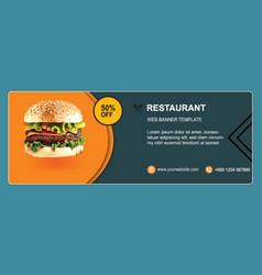 Restaurant free banner template design vector