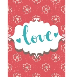 Romantic vintage card vector