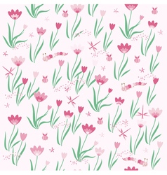 Seamless flower texture vector