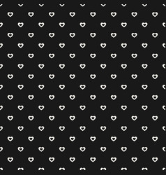 Seamless pattern with tiny hearts abstract vector