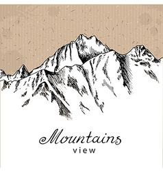Snow Mountain Peak vector image