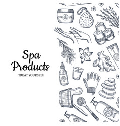 Spa pattern hand drawn spa elements vector