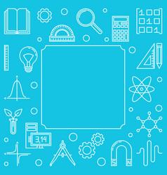 Stem square outline frame on blue vector