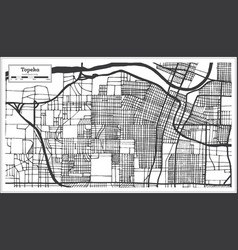 Topeka kansas usa city map in retro style vector