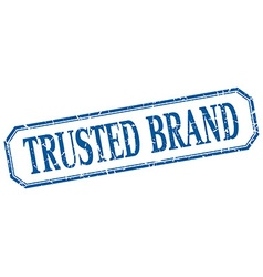 Trusted brand square blue grunge vintage isolated vector