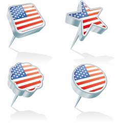 USA pins vector