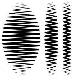Vertical criss-cross wavy zigzag lines set of vector